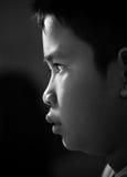 Cara asiática del muchacho Fotografía de archivo libre de regalías