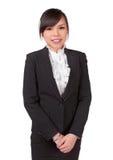Cara asiática do sorriso da mulher fotos de stock