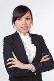 Cara asiática do sorriso da mulher foto de stock royalty free