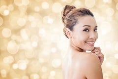 Cara asiática da beleza Imagens de Stock