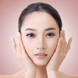 Cara asiática de la belleza Imagen de archivo libre de regalías