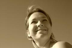 Cara asoleada de la sepia Fotos de archivo