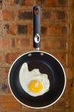 Cara asoleada del huevo para arriba Imagen de archivo