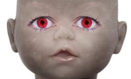 Cara asustadiza de la muñeca Imágenes de archivo libres de regalías