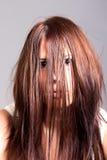 Cara asustadiza de la mujer Imagen de archivo