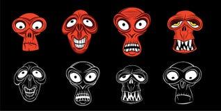 Cara asustadiza del zombi del horror stock de ilustración