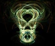 Cara asustadiza - fractal generado ilustración del vector
