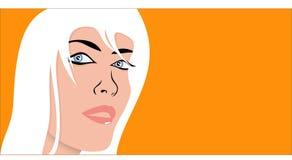 Cara atractiva de la mujer Imagen de archivo