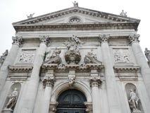 Cara barroco ornamentado de San Stae, Veneza fotografia de stock royalty free
