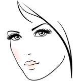 Cara bonita da mulher ilustração royalty free