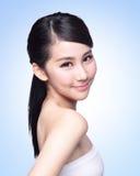 Cara bonita da mulher dos cuidados com a pele Imagens de Stock