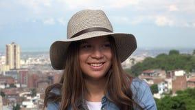 Cara bonita de la muchacha adolescente Fotos de archivo