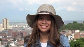 Cara bonita de la muchacha adolescente Fotografía de archivo
