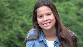 Cara bonita de la muchacha adolescente Foto de archivo