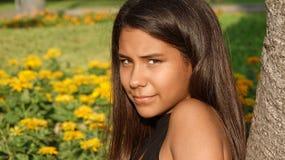 Cara bonita de la muchacha adolescente Imágenes de archivo libres de regalías
