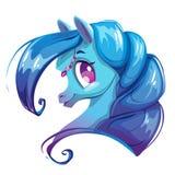 Cara bonita do cavalo dos desenhos animados Imagens de Stock Royalty Free