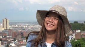 Cara bonita femenina adolescente Fotos de archivo libres de regalías