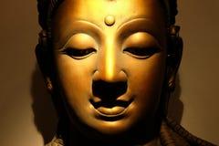 Cara Buda de oro Fotos de archivo