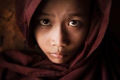 Cara budista del monje del novato Imagen de archivo