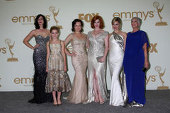 Cara Buono, Christina Hendricks, Elisabeth Mos, Kiernan Shipka, Pari Jessica Royalty-vrije Stock Foto