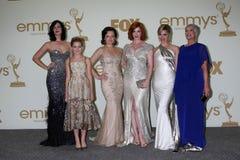 Cara Buono, Christina Hendricks, musgo de Elisabeth, Kiernan Shipka, paridade de Jessica Foto de Stock Royalty Free