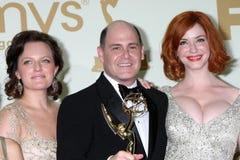Cara Buono, Elisabeth Mos, Matthew Weiner Royalty-vrije Stock Afbeelding