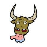 cara cómica de la vaca de la historieta Foto de archivo libre de regalías