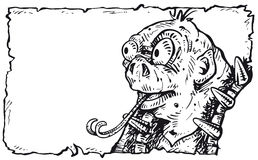 Cara cómica del ogro Imagen de archivo