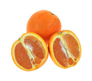 Cara Cara Navel Orange Whole Sliced Royalty Free Stock Photo