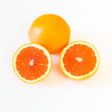 The cara cara oranges with pinkish red color interior. Stock Image