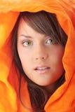Cara caucásica adolescente hermosa de la mujer Imágenes de archivo libres de regalías