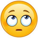 A cara com rolamento eyes o emoticon ilustração stock