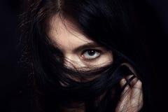 Cara con el pelo Imagenes de archivo