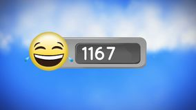 Cara con los rasgones del emoji de la alegr?a libre illustration