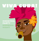 Cara cubana da mulher Imagem de Stock