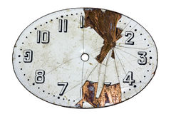 Cara dañada del reloj Imagen de archivo