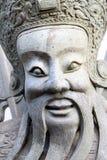 A cara da boneca de pedra chinesa Imagens de Stock Royalty Free