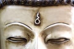 A cara da Buda em Nepal Fotos de Stock Royalty Free