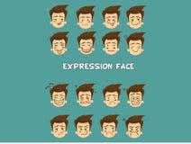 Cara da expressão ilustração royalty free