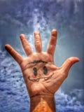 Cara da mão Fotos de Stock