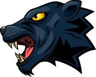 Cara da mascote da pantera Fotos de Stock