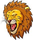 Cara da mascote do leão Imagens de Stock Royalty Free