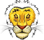 Cara da mascote do leão Fotos de Stock Royalty Free