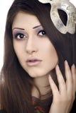 Cara da mulher bonita com máscara Imagens de Stock