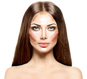 Cara da mulher da composição Fotos de Stock