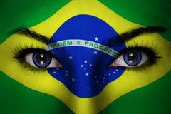 Cara da mulher de Brasil Fotografia de Stock Royalty Free