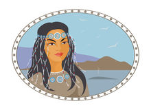 Cara da mulher de Chukchi Fotos de Stock