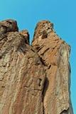 Cara da rocha no jardim dos deuses Colorado Fotografia de Stock