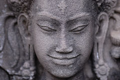 Cara de Angkor imagenes de archivo