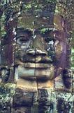 Cara de Angkor Wat (templo de Bayon) Imagen de archivo libre de regalías